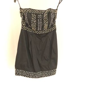 French Connection Strapless Beaded Mini Dress